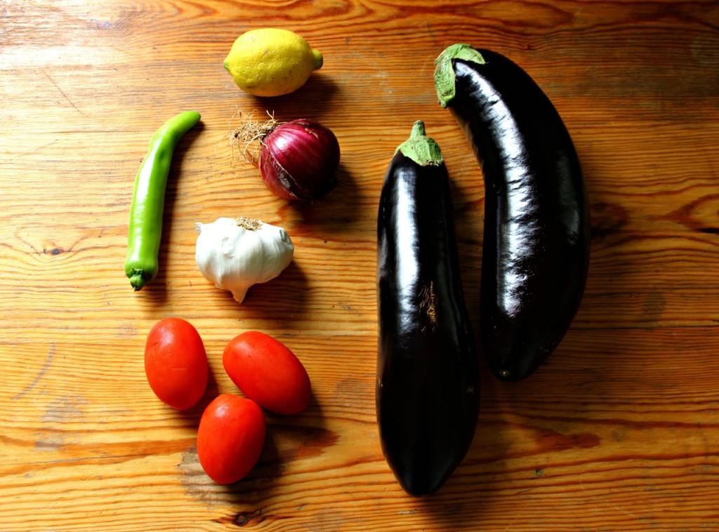 burned salad ingredients