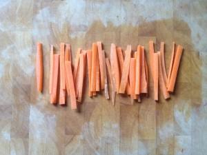 cut carrot