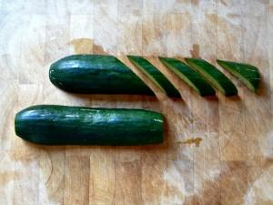 diagonal cucumber