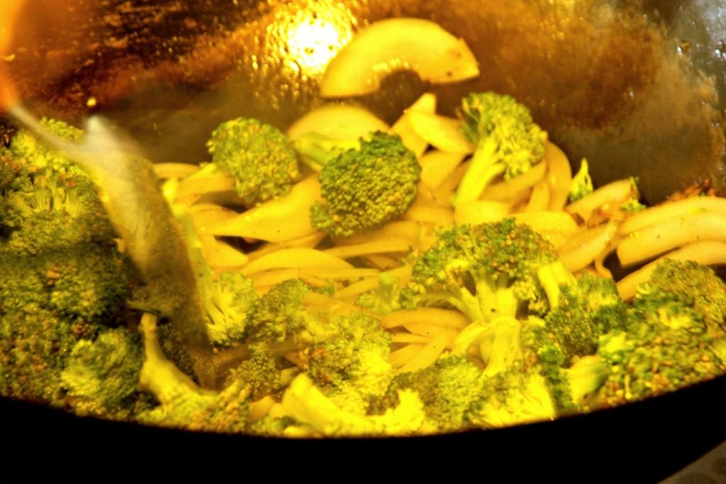 stir broccoli