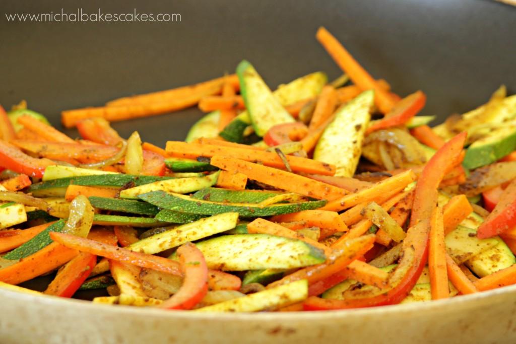 veggies w curry