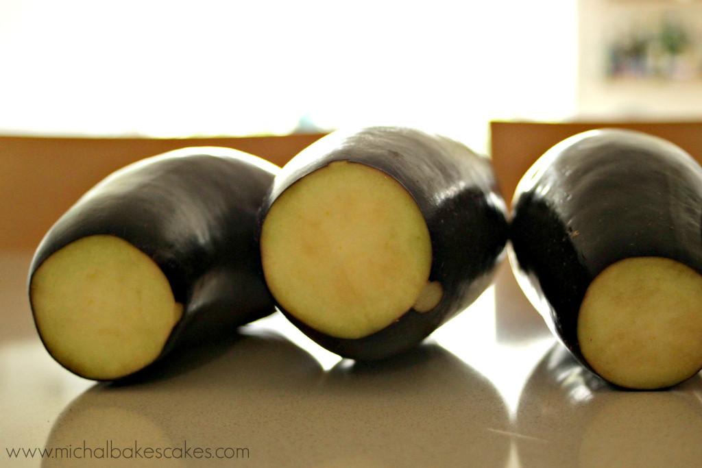 eggplants cut