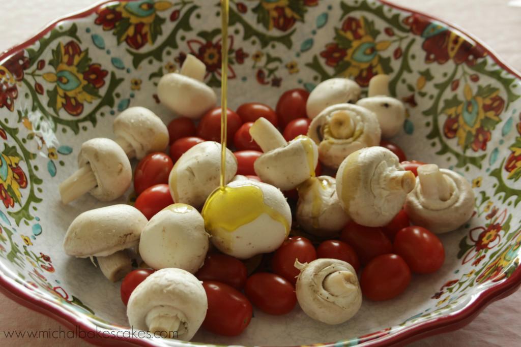 mushroom and tomatoes
