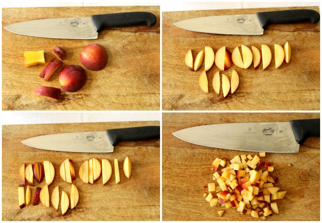 cutting nectarine